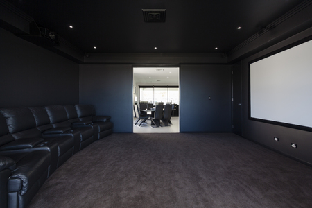 home theatre: Media room in modern home