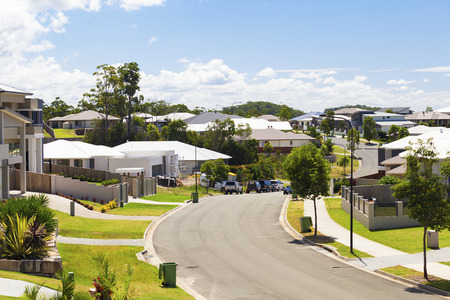 suburbs: Suburban australian street during the day