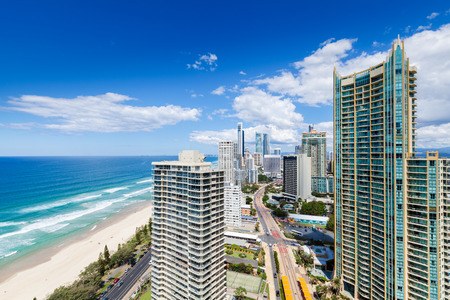beach view: Sunny view of Surfers Paradise, Gold Coast