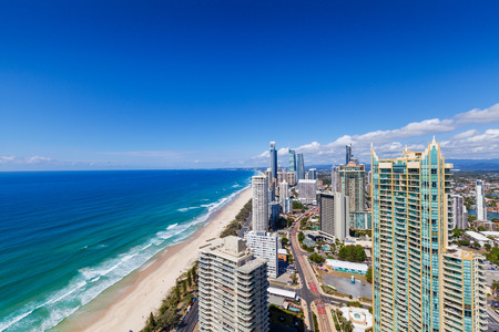 goldcoast: Sunny view of Surfers Paradise, Gold Coast