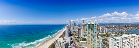 surfers paradise: Panoramic view of Surfers Paradise on Queenslands Gold Coast
