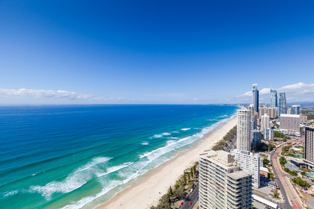 surfers paradise: Sunny view of Surfers Paradise, Gold Coast