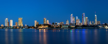 surfers paradise: Panorama of Surfers Paradise on Queenslands Gold Coast Stock Photo