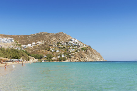 island: Sunny Elia Beach in Mykonos, Greek Islands