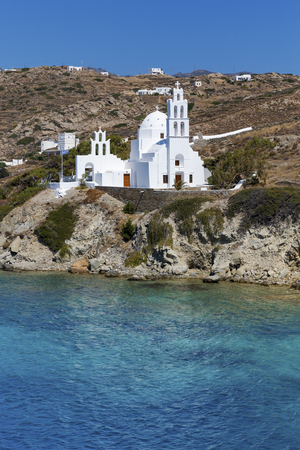 Greek Church on sunny Eos, Greece