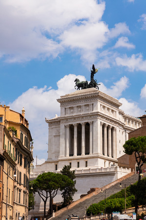 altar of fatherland: View of Altar of the Fatherland on a sunny day, Rome, Italy Stock Photo