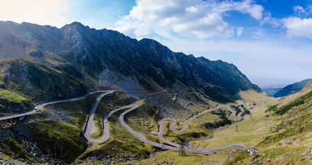 curve road: The scenic Transfagarasan highway in Romanias Carpathian Mountains
