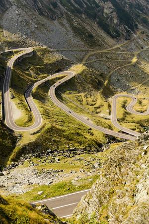 The scenic Transfagarasan highway in Romanias Carpathian Mountains