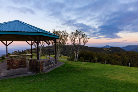 Sunrise view from the Gold Coast hinterland, Queensland, Australia