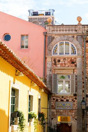Traditionelle portugiesische Architektur und Gebäude in Lissabon, Portugal Standard-Bild