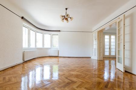 Empty freshly renovated old style european home interior Stock Photo