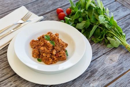 Quinoa gekocht im Topftopf, gesundes fettarmes Essen Lizenzfreie Bilder
