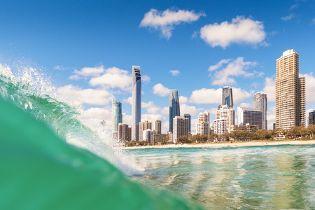 surfers paradise: View from the water of Surfers Paradise on the Gold Coast, Australia