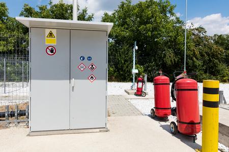 Hazardous materials control panel in water treatment plant Reklamní fotografie