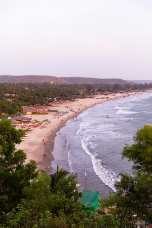 Arambol Strand bei Sonnenuntergang, Goa, Indien