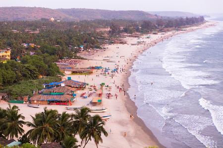 Arambol beach at sunset, Goa, India
