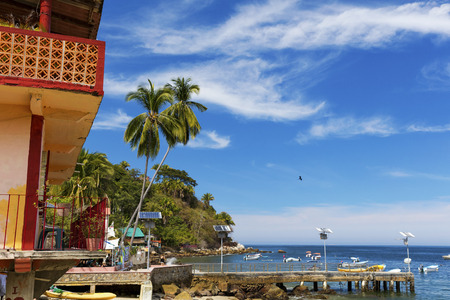 The tropical coastal town of Yelapa near Puerto Vallarta, Mexico Stock Photo