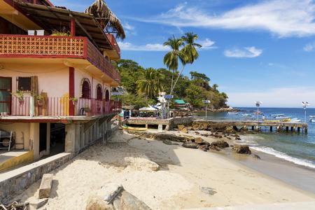 The tropical coastal town of Yelapa near Puerto Vallarta, Mexico Stock Photo