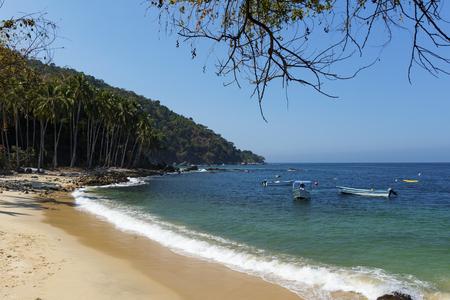 Tropical beach in Pizota near Puerto Vallarta, Jalisco, Mexico