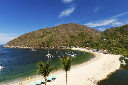 The tropical coastal town of Yelapa near Puerto Vallarta, Mexico Stock fotó