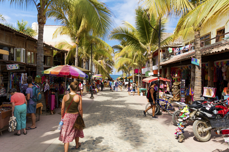 The surfing village of Sayulita, Nayarit, Mexico Stok Fotoğraf - 93777270