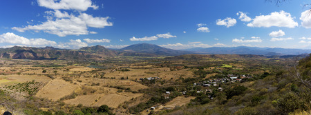 Panorama of a Mexican valley on a sunny day towards Guadalajara Stock Photo