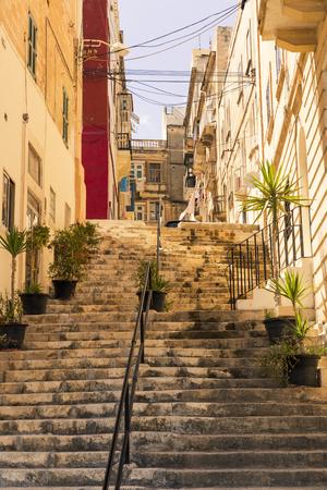 Colorful Maltese homes in the suburb of Senglea, Valletta