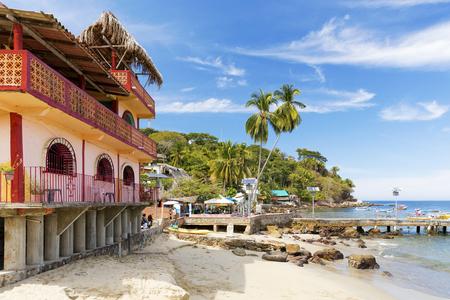 The tropical coastal town of Yelapa near Puerto Vallarta, Mexico Editorial