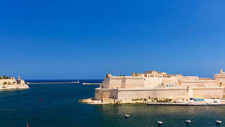 View of Saint Angelo Fort in Valletta, Malta