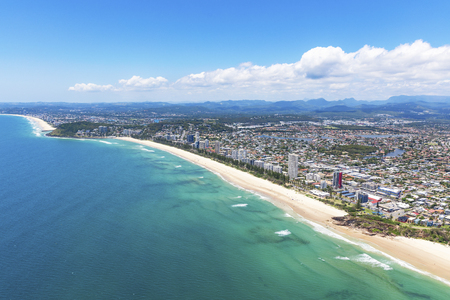 Sunny view of Miami and Burleigh Heads on the Gold Coast, Queensland Australia 免版税图像