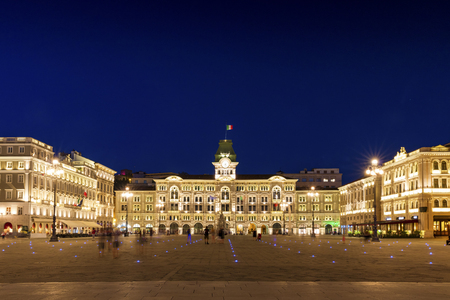 The main of Piazza Unita in Trieste, Italy