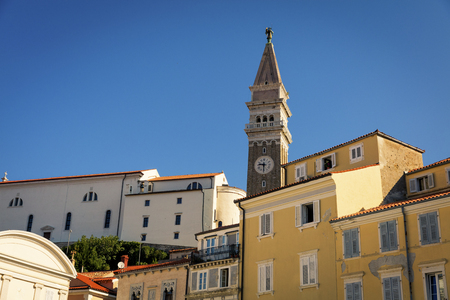 Houses in the resort city of Piran, Slovenia