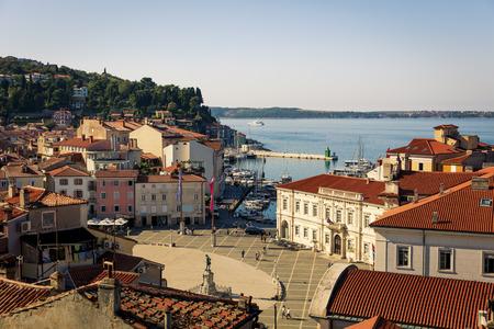 The Slovenian resort city of Piran on the Adriatic coast