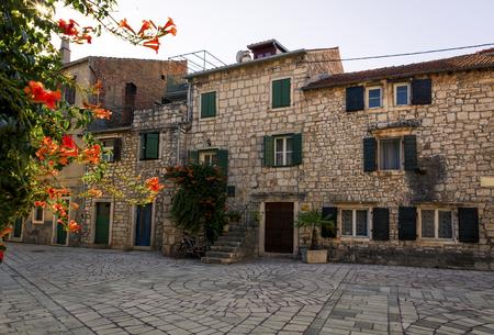 Medieval houses in Stari Grad on the island of Hvar