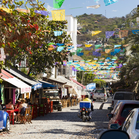 Sayulita is a village on Mexico's Pacific coast popular with surfers, Nayarit, Mexico