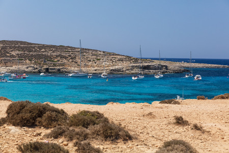 The world famous Blue Lagoon on Comino Island, Malta