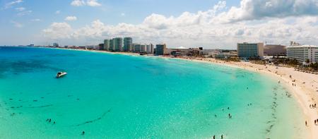 Panoramic aerial view of Zona HoteleraCancún, Quintana RooMexico