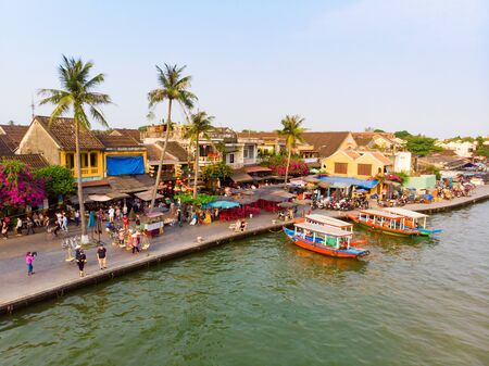 The vibrant ancient town of Hoi An on the central coast of Vietnam