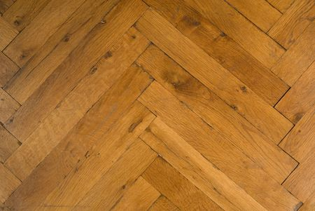 Photo of old wooden parquet. Inlaid floor of wood. Natural.