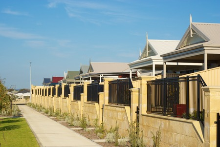 Newly build Australian houses in Badivis, Western Australia. photo