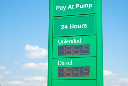 unleaded: Bilboard with the Unleaded and Diesel fuel prices in Australia