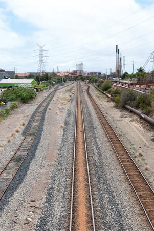 industrail: Three railways in an industrail area