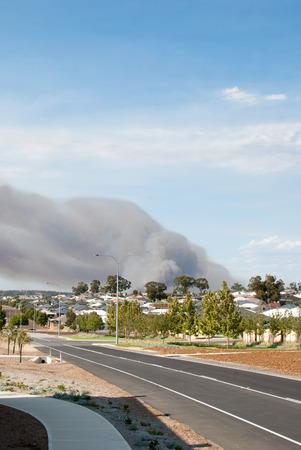 western australia: Big fire in the suburb of Baldivis, Western Australia.