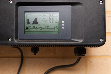Solar inverter installed in an Australian home