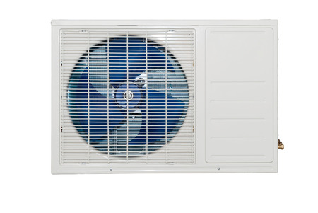 White air conditioning external unit Standard-Bild