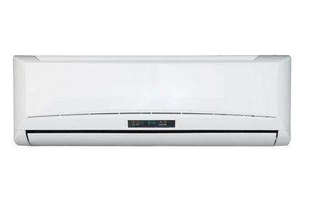 Split system air conditioning unit Standard-Bild