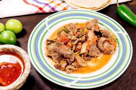 Bistec a la mexicana - Mexican stake Stock Photo