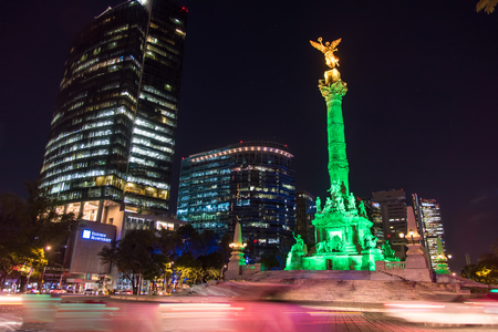 Independence Angel statue in the city