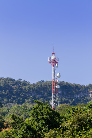 Trasmission tower in the jungle