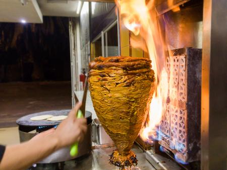 Trompo de Pastor, mexican tacos al pastor